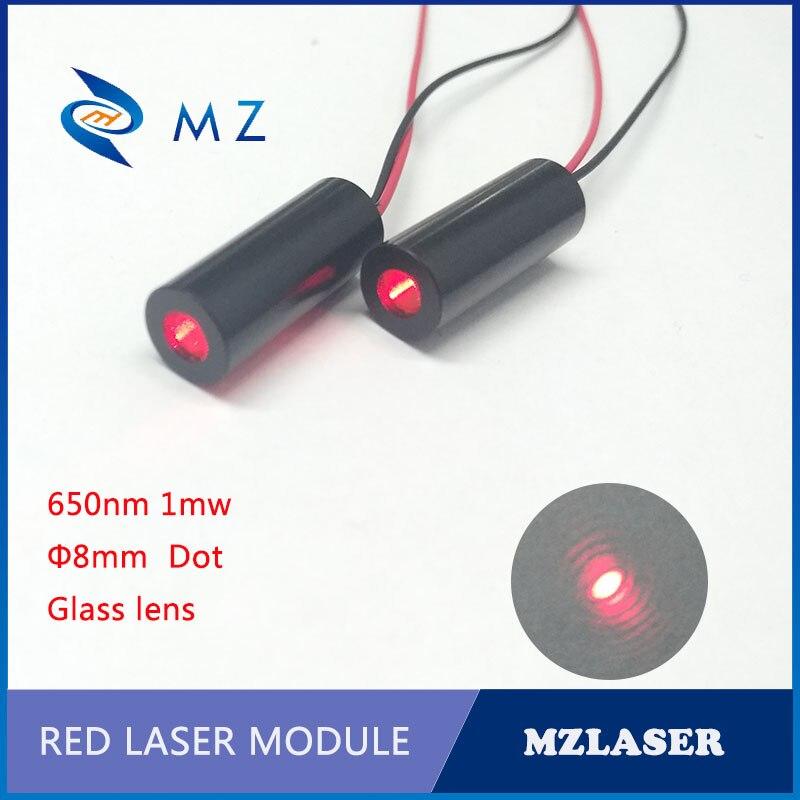 Red Dot Laser Module 650nm 1mw Class II  Laser Module APC Drive Control Industrial Grade Laser Module