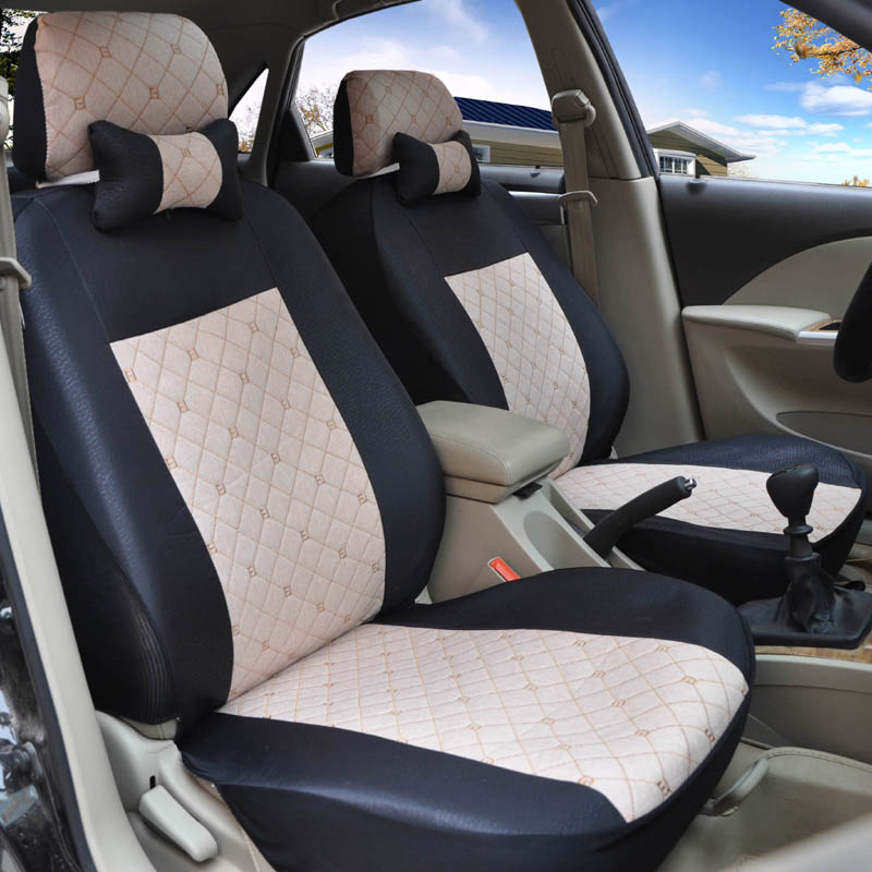 Yuzhe flax Universal car seat covers For Skoda Octavia 2 a7 a5 Fabia Superb Rapid Yeti Spaceback Joyste car accessories styling yuzhe leather car seat cover for mitsubishi lancer outlander pajero eclipse zinger verada asx i200 car accessories styling
