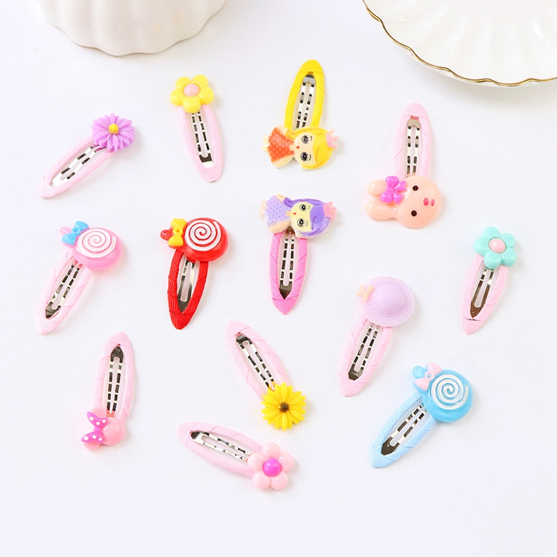 2PCS/ Lot New Korean Style Little Girl Princess Hair Pins Cute Cartoon Safe Cloth Hair Clips Children Headwear Hair Accessories halloween party zombie skull skeleton hand bone claw hairpin punk hair clip for women girl hair accessories headwear 1 pcs