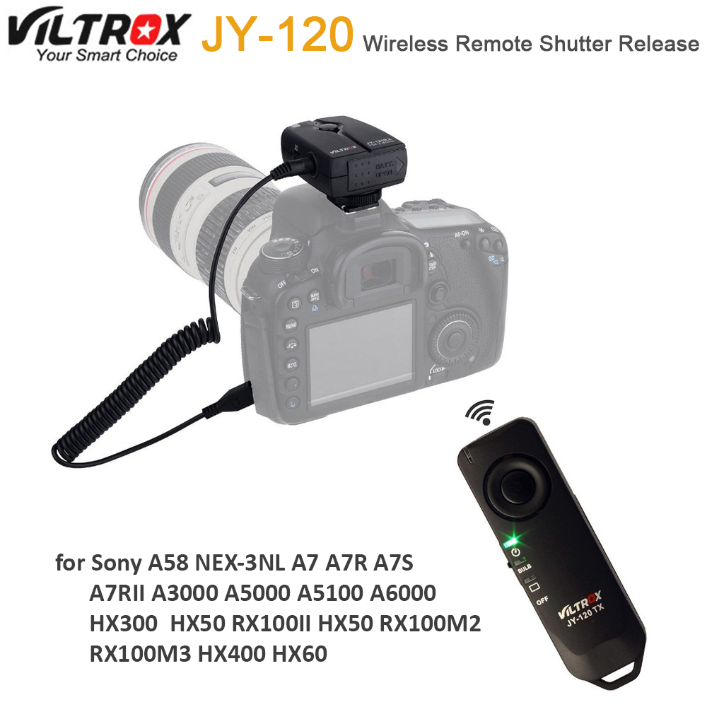 A7II A7RII RX100II A7R PIXEL RW-221//S2 Wireless Shutter Remote Control Release for Sony Micro single Digital Camera A58 A6000 NEX-3NL A75 HX300 A3000 A7