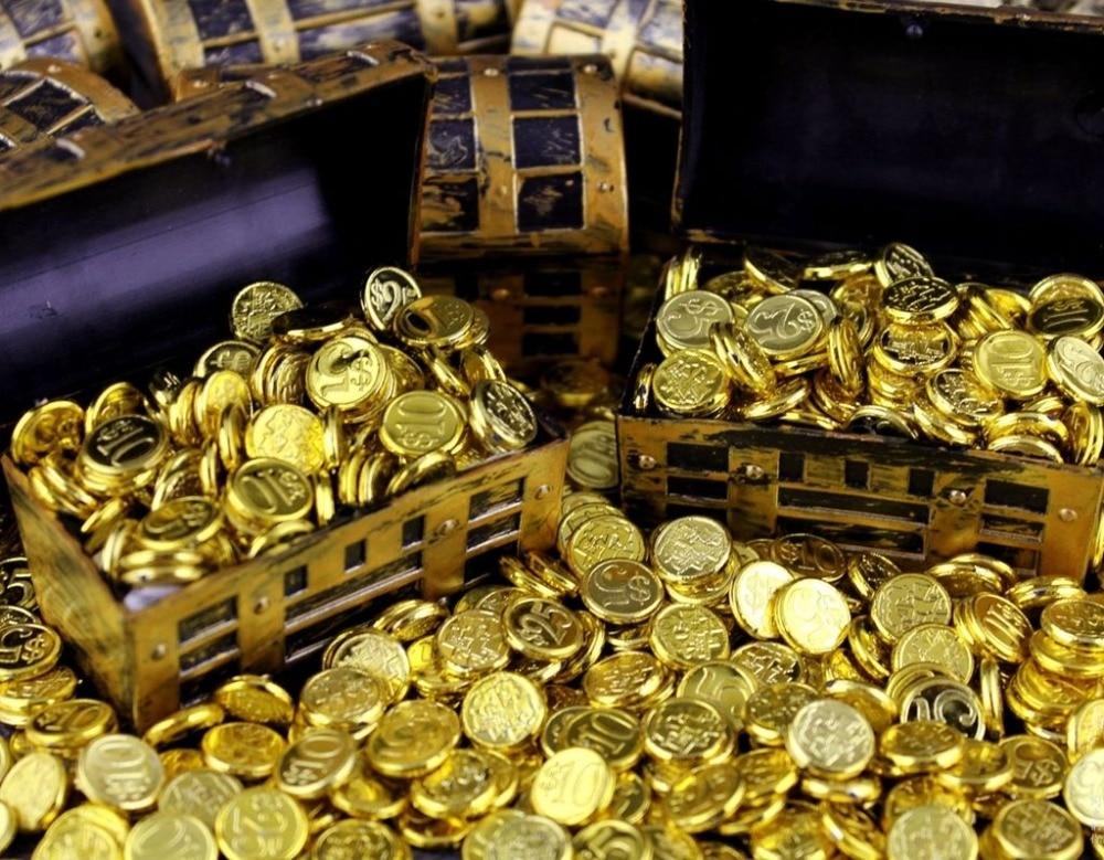 1:6 1/6 Scale Treasure Box Gold Golden Coins For Action Figure Decoration nichijou 6