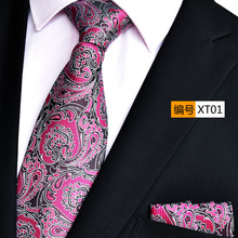 NINIRUSI 20 Colors New Romantic Wedding Paisley Ties Pocket Square 2 PCS/Set Casual Tie Set Suit for Gifts Men with