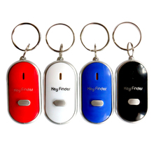 5Pcs/Lot LED Key Finder Whistling Sound Controlled Locator Keys Chain Car Bag Wallet Keychains 4 Colors Gift Wholesale(China)