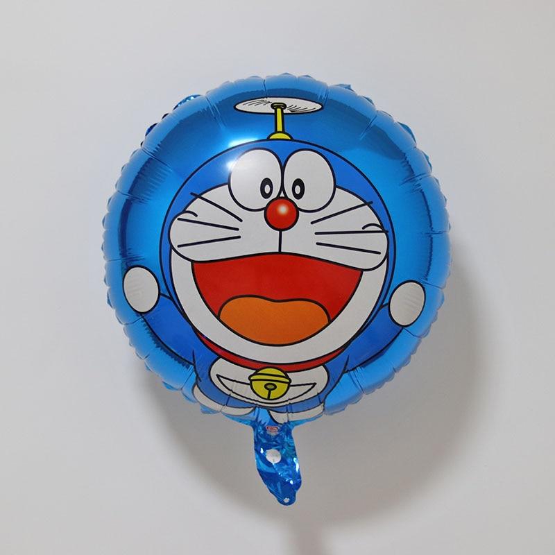 new 18inch 1pcs bule cartoon Doraemon Foil Balloon Children birthday party decoration boy favourite balloon anime classic toy