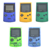 GB Boy Color Colour Handheld Game Consoles Game Player With Backlit 66 Built In Games Blue