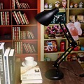 Swing Arm Desk Lamp with Metal Clamp Led Table Lamp American Foldable Reading Lamp E27 110V 220V Clip Office Lamp US Plug