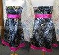 Hot Pink Camo Wedding Dress 2017 Vestidos de Novia Summer Beach Wedding Dress Short Knee-length Custom Made Colored Bridal Gowns