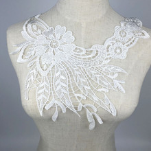 sewing on lace hollow out flower , sequins ladies fabric fake neckline DIY Craft applique collar