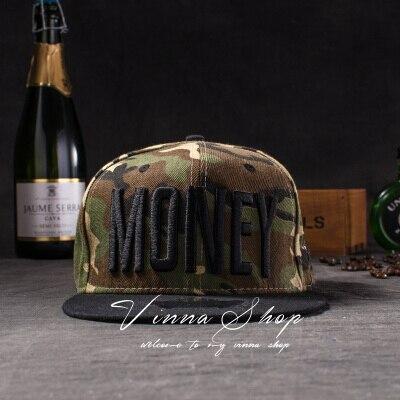 Новые модные мужские и женские повседневные кепки Snapback Swag MONEY Letters 3D Вышивка Хип-Хоп Кепка бейсбольная кепка s Bone Gorras для мужчин и женщин - Цвет: Camouflage