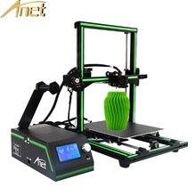 Новые Анет E10 легко собрать Desktop 3D-принтеры комплект высокого качества RepRap Prusa i3 3D принтер Наборы DIY 12864 ЖК-дисплей Экран + карты памяти