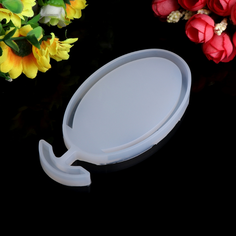 Transparent Silicone Pendant Mould Resin Oval Mudboard DIY Jewelry Making Tool Fondant Cake -W128