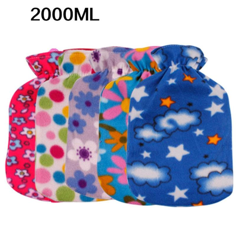 все цены на Heart-shaped Flower Pattern Hot Water Bag Cover Hot Water Bottle Pocket Hand Warmer Plush Hot Water Filling Bag 30 онлайн