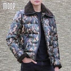 Camouflage genuine leather down coat winter fur collar parka 100 sheepskin jackets manteau femme hiver abrigos.jpg 250x250