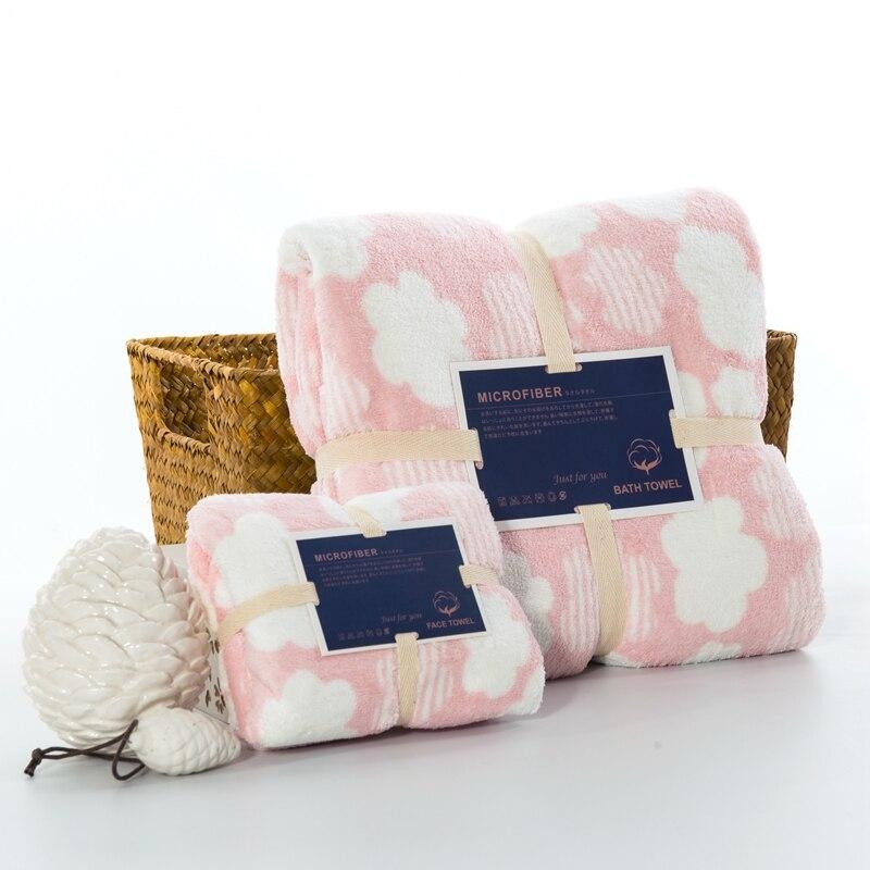 J pinno хлопок 2 шт. Nano печатных красота уход за кожей лица для ванной полотенца набор облако 6 цветов мягкие высокие абсорбирующие Антиб