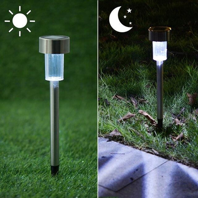 12 Pcs/Lot Solar Powered Garden Lights Lawn Lamp Outdoor Post Waterproof  Backyard Decor Led