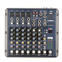 RMV8/2 8 Channels (4 Mono + 2 Stereo) 16 DSP Sound Console Equipment Professional USB Audio DJ Mixer