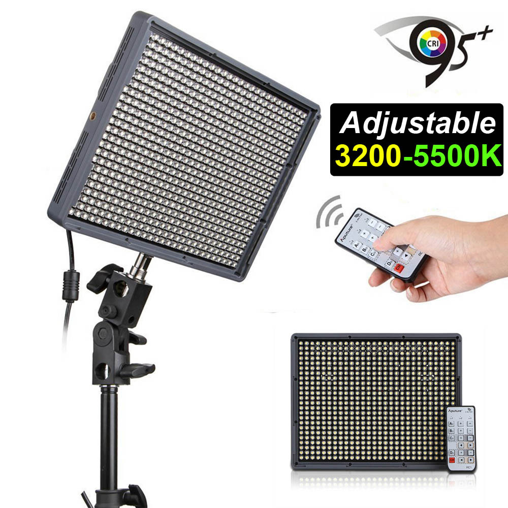 Aputure Amaran HD DV Video LED Light HR672C CRI95 3200K 5500K Adjustable Wireless Remote Control Camcorder