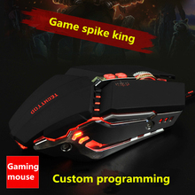New macro programming custom mechanical lighting gaming mouse iron bottom weighted wired USB