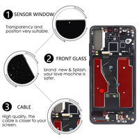 Fingerprint Sensor 6.1 Display For HUAWEI P20 Pro LCD Touch Screen Digitizer Assembly P20 Pro LCD CLT AL01 LCD P20 Plus Screen
