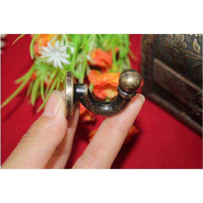 Настенные крючки из цинкового сплава, крючок для ванной комнаты с винтами, цинковый сплав, 37*24 мм, 10 шт