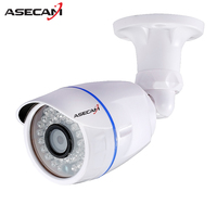 HD 720P IP Camera 48V POE White Bullet Onvif WebCam CCTV 24LEDS Infrared Night Vision Security