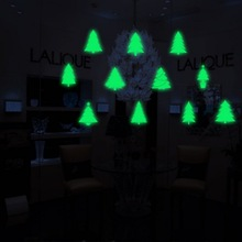 Luminous Christmas Sticker Home Garden Festive Party Supplies Pendant Drop Ornaments Stickers