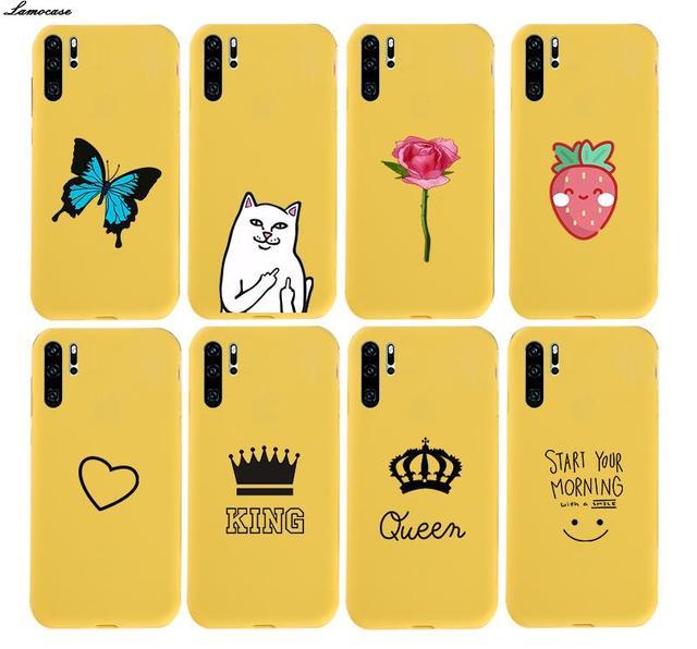 Soft TPU Case for Huawei P30 P20 Pro P10 P9 P8 Lite 2017 Mate 10 20 Lite P Smart 2019 Nova 4 8S Honor 8 10 Cat Rose Heart Cover