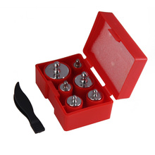 6Pcs Precision Calibration Scale Weights Accurate Weights Set 100g 50g 20g 10g 5g Grams Jewelry Weighing