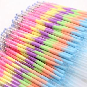 Image 1 - Jonvon Satone stylo recharge multicolore, 200 pièces, arc en ciel, surligneur, stylo Gel, papeterie, stylos peinture graffitis, cadeau