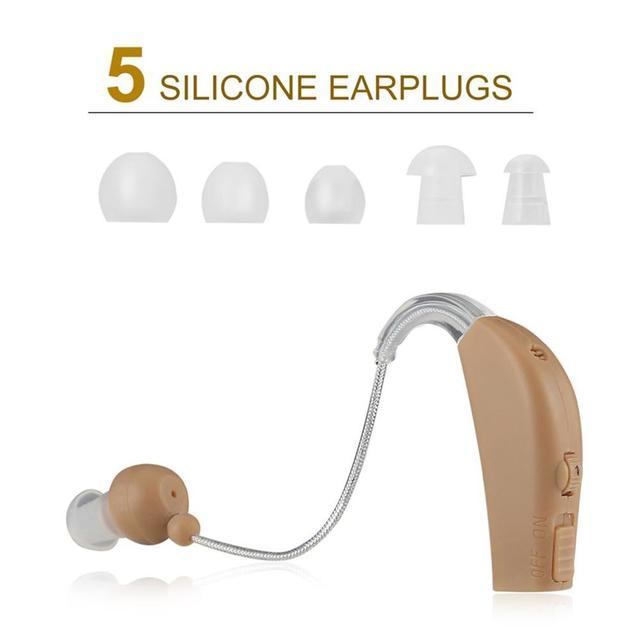 Amplificateur vocal Portable, Rechargeable, pour laudition, pour derrière loreille, pour les personnes âgées, prise EU/US JZ-1088F