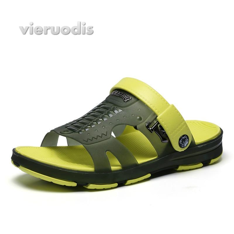 Mannen sandalen 2018 nieuwe zomer stijl mannen strand schoenen holle - Herenschoenen