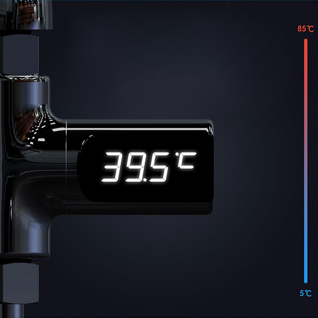 Digital LED Display Water Faucet Cartridges with Thermometer Self-Generating Electricity Water Temperature Monitor For Baby Care 3