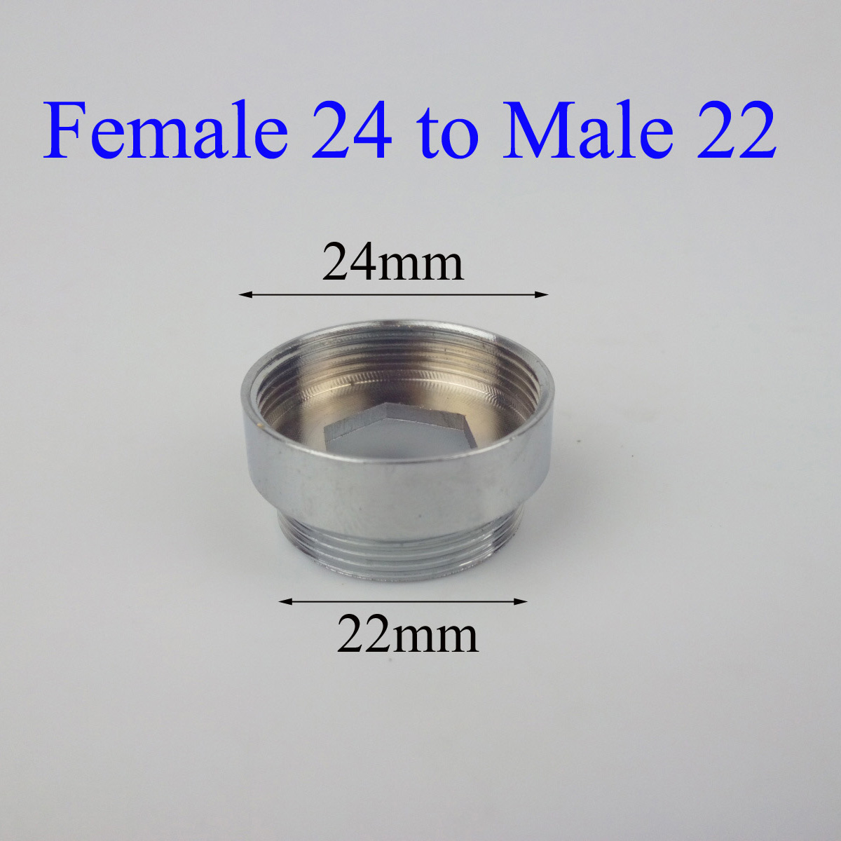Female 24 To Male 22 Chromed Purifier Faucet Adapter