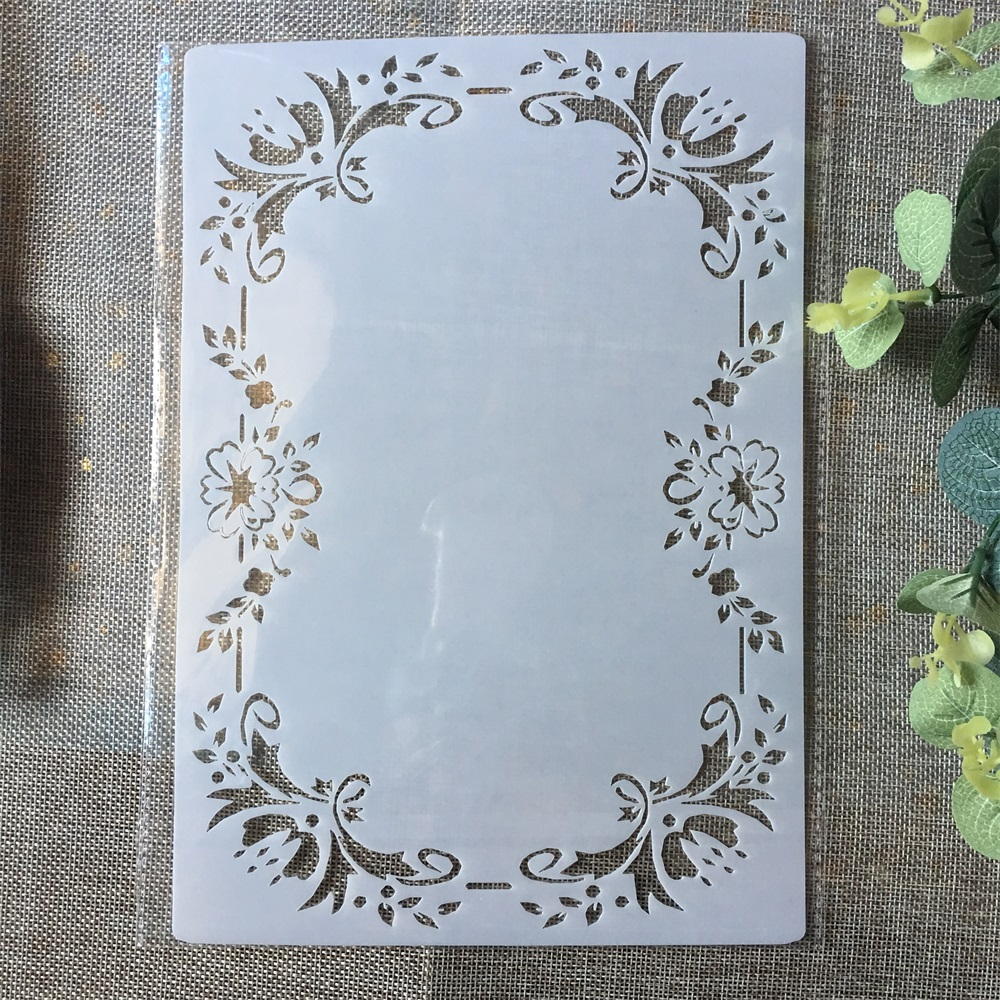 A4 Layering Stencils Templates Scrapbooking Craft  DIY  Letters and Borders
