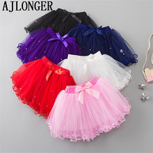 AJLONGER Summer Kids Baby Dance Tutu Skirt For Girl  Toddler Lace Pettiskirt Children Chiffon