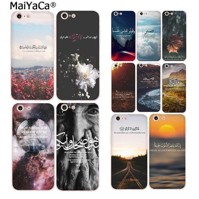 MaiYaCa arabski koran islamskie cytaty muzułmanin moda etui na telefony dla iphone SE 2020 11 pro 8 7 66S Plus X 5S SE XR XS XS MAX