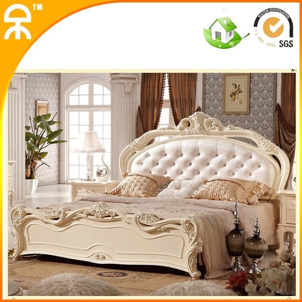 Gros Jolie Princesse Moderne Style En Bois Massif Tissu Cuir Meubles Lit  Chambre King Size Ensembles