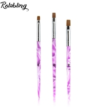 3pcs/set mix size 4# 6# 8#  Nail Art Design Brush Spiral Gel Pen Tips Tool for nail tool nail gel brush gel brush nail art