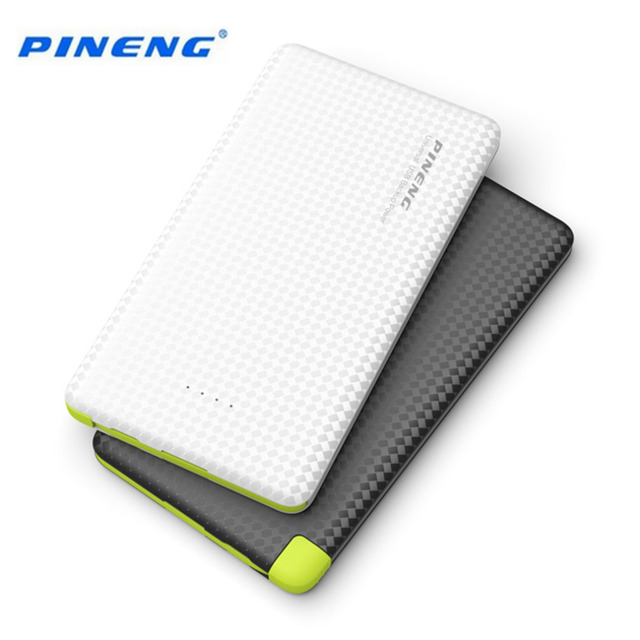 Original 5000mAh PINENG Mobile Power Bank Fast Charging External Battery Portable Charger Li-polymer Battery For Android Phones
