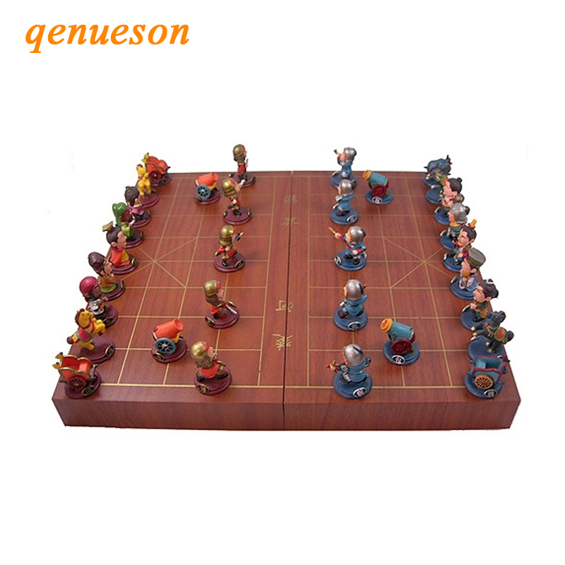 High Quality Chinese Chess Folding Chess Board Chinese Chess Pieces / Parent-child Chess Lovers Collection Good Gift Board Games 36 4 33cm cotta warrior chess q edition journey to travel cartoon characters chinese chess set chess lovers collection good gift