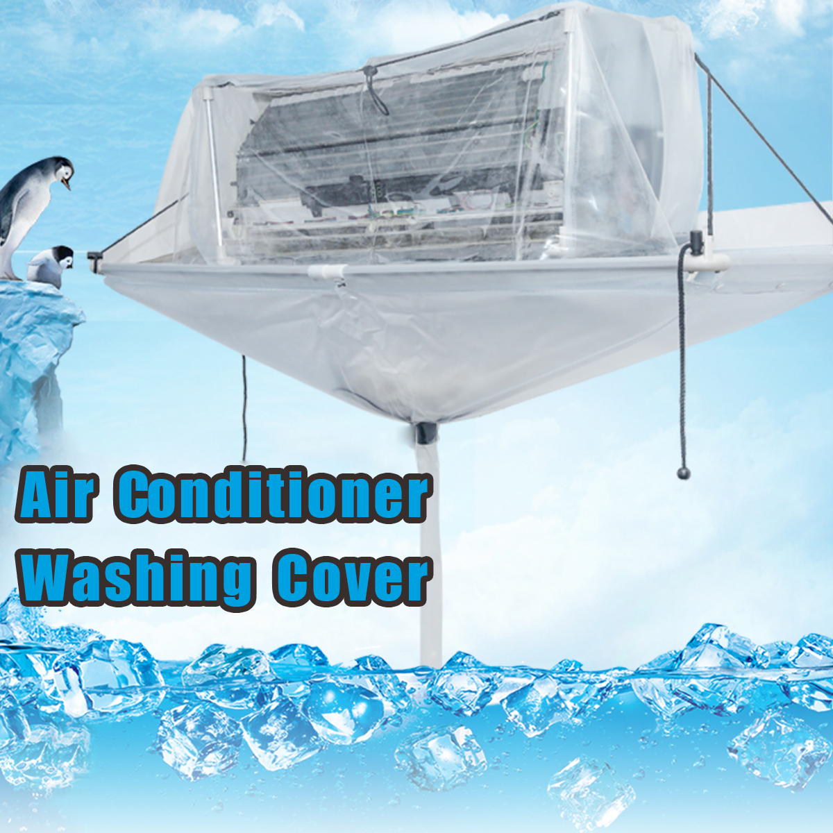 Totally Enclosed Type Air Conditioner Cleaning Washing Tool Ceiling Wall Mounted PVC Air Conditioning Cleaner Washing