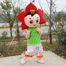 Hot Sale Professional Sunflower Flower Mascot Costume Adult Size Fancy Dress Cosplay for Halloween Party Event