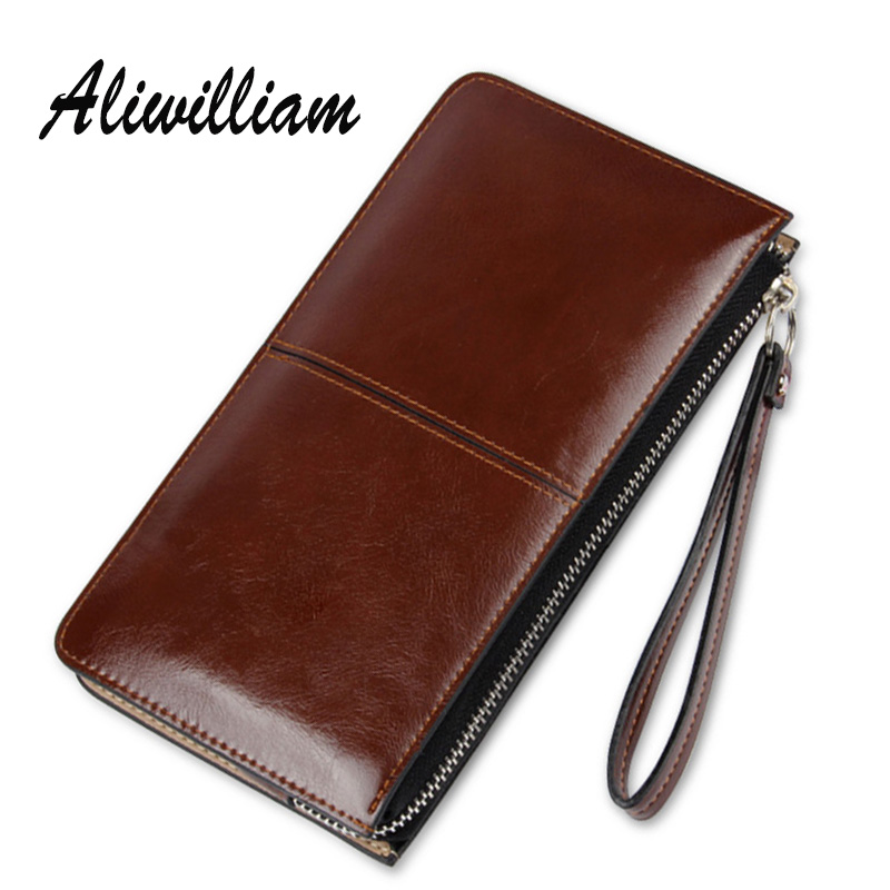 Aliwlliam Zipper Clutch Bags Women Long Wallets Candy Oli Leather Ladies Wallet Coin Purse Female Card Phone Holder Carteras candy leather clutch bag women long wallets famous brands ladies coin purse wallet female card phone holders carteira feminina