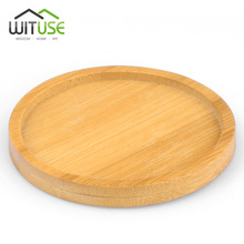 WITUSE Bamboo Round Square Bowls Plates for Succulents Pots Trays Base Stander Garden Decor Home Decoration Crafts 12 Types Sale