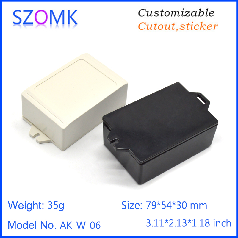 szomk wall mounted plastic enclosure for electronics project instrument plastic housing junction box abs plastic casing (9)