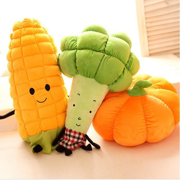 Creative Funny Vegetable Carrot Corn Smiley Face pillow Plush Emotion Toy Pouf Cushion Christmas emoji pillow For Sofa Bed