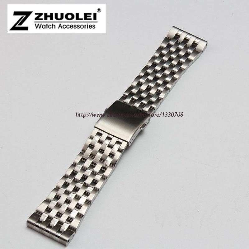 купить 24mm 26mm 28mm 30mm Available Silver Stainless Steel Mens Metal Bracelet Watch Band Strap For DZ7221 по цене 1699.94 рублей