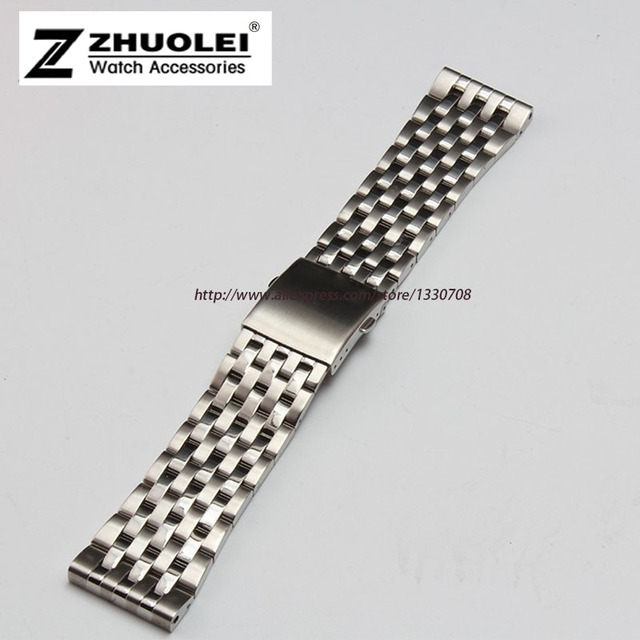 24mm 26mm 28mm 30mm Available Silver Stainless Steel Mens Metal Bracelet Watch Band Strap For DZ7221