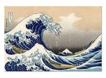 1 Панель Бесплатная доставка волна канагава плакат японского аксессуары для дома декоративной живописи печати обрамлении