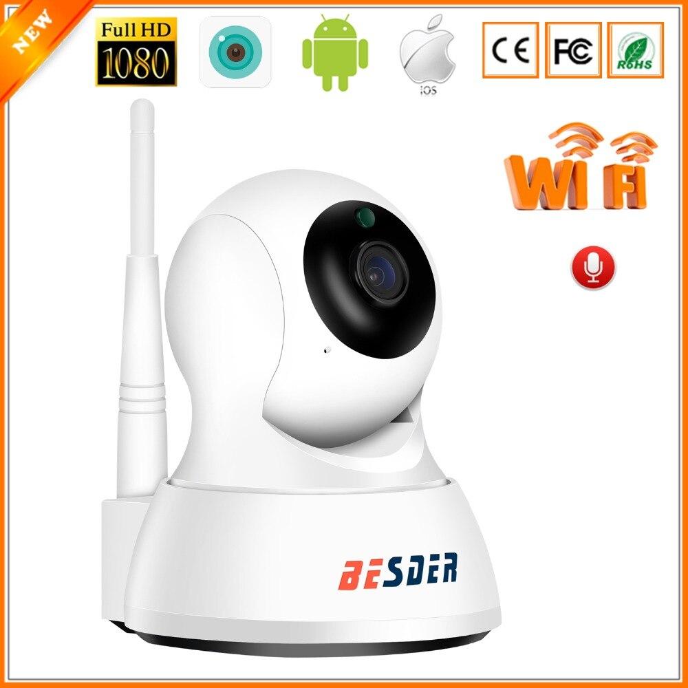 BESDER Home Smart Security IP Camera Wi-Fi 1080P P2P Two Way Audio Motion Alert Mini Pan Tilt CCTV Video Camera WiFi 1080P 2MP